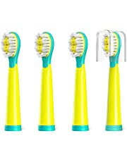 Fairywill Electric Toothbrush Brush Head x 4 suitable for Fairywill Electric Toothbrush FW2001 ONLY