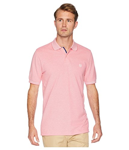 Rose Colored Coral (Chaps Men's Short Sleeve Birdseye Polo Sunset Rose Multi Large)