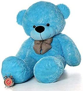 Everyonic Plush Stuffed Cute Teddy Bear with Neck Bow- 3 feet ( 92 cm)|| Blue