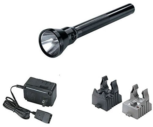 Streamlight 78014 Ultra Stinger Flashlight with 120V AC/DC Charger and 2-Holders, Black