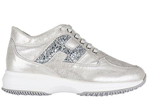 Hogan chaussures baskets sneakers femme en cuir interactive h spezzata ricamo ar