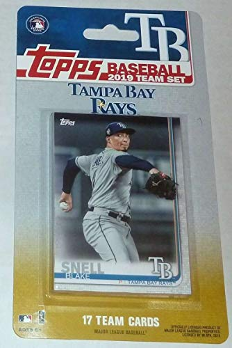 Bay Tampa Rays Set - 2019 Topps Factory Sealed Tampa Bay Rays Team Set of 17 Cards: Blake Snell(#TB-1), Kevin Kiermaier(#TB-2), Charlie Morton(#TB-3), Joey Wendle(#TB-4), Willy Adames(#TB-5), Matt Duffy(#TB-6), Tommy  Pham(#TB-7), Austin Meadows(#TB-8), Mike Zunino(#TB-9), Daniel Robertson(#TB-10), Chaz Roe(#TB-11), Wilmer Font(#TB-12), Tyler Glasnow(#TB-13), Ryan Yarbrough(#TB-14), Jake Faria(#TB-15), Nick Ciuffo(#TB-16), Brandon Lowe(#TB-17)