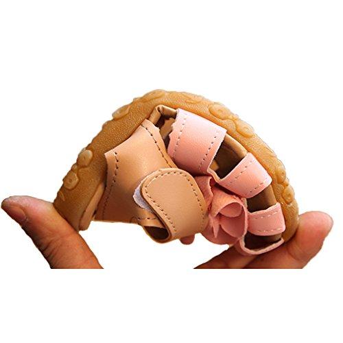 Oderola Kinder Mädchen Blumen PU Leder Geschlossene Sandalen Enfants Schuhe Pink