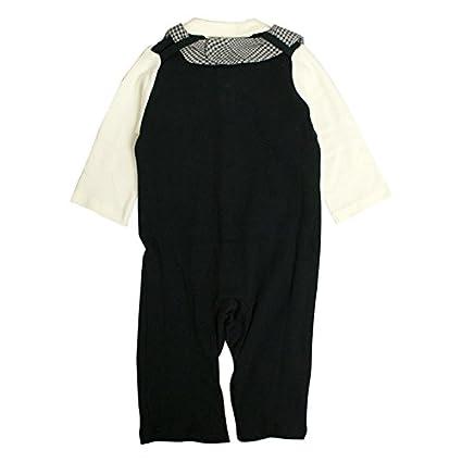 11e2fd78e7ba3 Amazon.co.jp: カバーオール 赤ちゃん ベビー 男の子 ベスト型スタイ付き フォーマル 長袖 ロンパース  服&ファッション小物