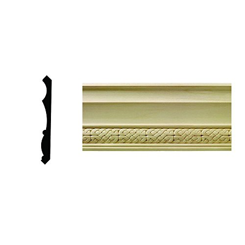 1/2 in. x 5-1/4 in. x 96 in. Hardwood White Unfinished Celtic Crown Moulding - Hardwood Crown Molding