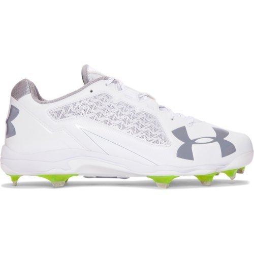 (Under Armour Men's Deception Low DiamondTips Baseball Shoe, 100/White, 8.5)