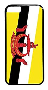 ACESR Brunei Flag iPhone 6 Hard Case PC - Black, Back Cover Case for Apple iPhone 6(4.7 inch)