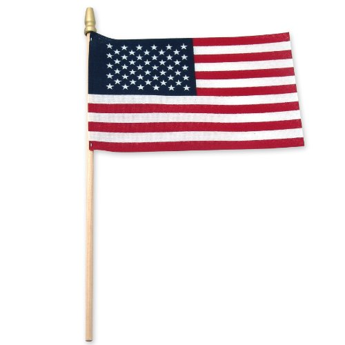 Flag Small American (Online Stores USA Stick Flag with Spear Tip, 4 by 6-Inch, 25-Pack)