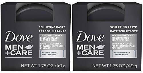 Dove Men+Care Hair Styling, Sculpting Paste, 1.75 oz, 2 Packs
