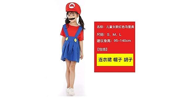 GJBXP Halloween Cosplay Super Mario Bros Disfraz para niñosFunny ...