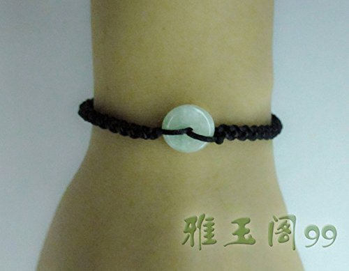 Ya-Ge 99 natural jade peace bracelet is hand made red, used for sale  Delivered anywhere in USA