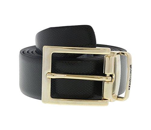 Roberto Cavalli FSC100 PZ015 Black Mens Belt Buckle Adjustable-Trim to fit for mens