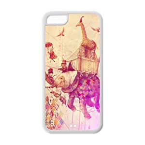 Godstore Elephant Design IPHONE 5C Best PC Cover Case