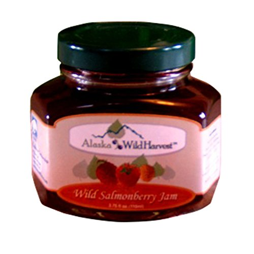 Salmonberry Jam 6.3oz from Alaska Wild Harvest Fresh Real Fruits Toppings Dessert Fillings Breakfast Essentials Best Paired w/ Salmon Dishes (Salmonberry Jam, 6.3oz)