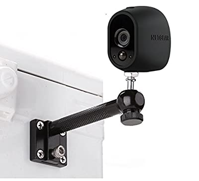 Aluminum Plugable Wall Mount Holder Stand Bracket with Tripod Ball Head for NetGear Arlo,Arlo pro,Arlo go Security Cameras