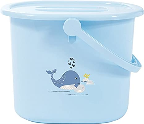 Contenedor para pa/ñales B/éb/é-jou color blanco azul Wally whale