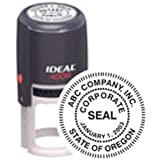 Custom Corporate Or Company Seal // Quality Medium Duty Self-Inking Stamp (Seal) // Seal Design Features A Standard Border // Impression 1 5/8""