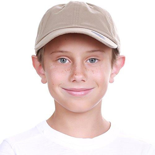 Supreme Cap Profile Low - KBC-13LOW KHK (6-9) Kids Boys Girls Hats Washed Low Profile Cotton and Denim Plain Baseball Cap Hat Unisex Headwear