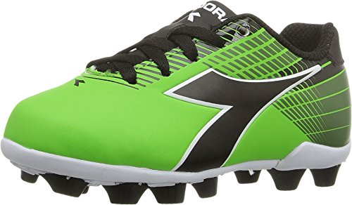 Diadora Kids' Ladro MD Jr Soccer Shoe, Lime/Black, 12 M US Little Kid