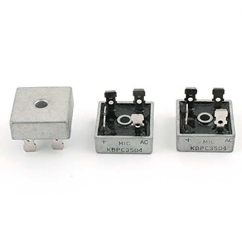 Uxcell a15030300ux0174 KBPC3504 35A Metal Case High Current Single Phase Diode Bridge Rectifier, 400V, 3 Piece