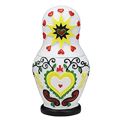 Ebros 3 Piece Set Day of The Dead Sugar Skulls Spirit Skeletons Nesting Dolls Matroyshka Babushka Figurines 6