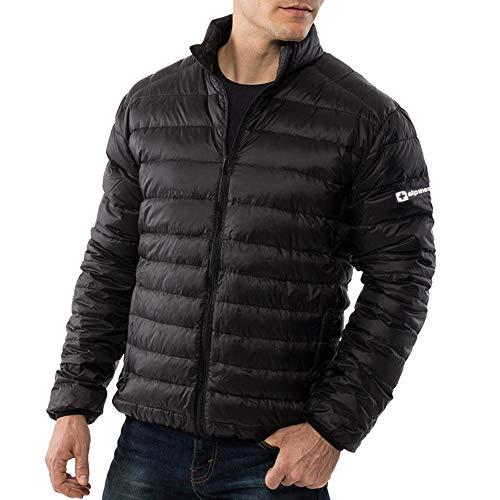 alpine swiss Niko Men's Down Jacket Puffer Coat Packable Warm Insulation & Light BLK 1XL (Layer Puffy Jacket)
