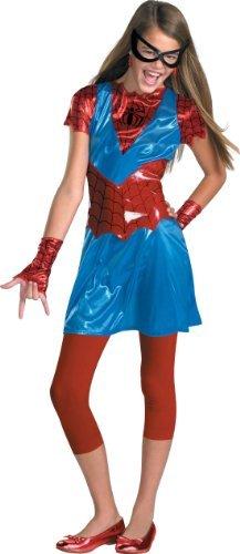 Spider Girl Tween (Medium) Color: Blue Size: Medium (7-8) Model: (Spidergirl Tween Costume)