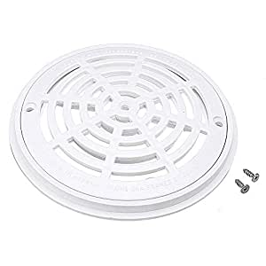 8 inch white pool main drain cover - Swimming pool drain cover replacement ...