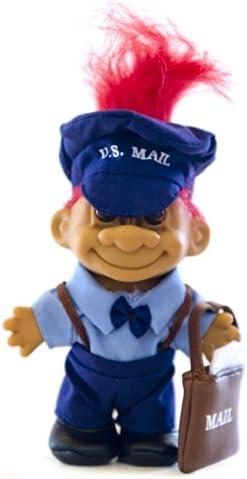 """MY LUCKY U.S. MAILMAN POSTAL Troll 6"""" Troll Doll - Red Hair"""