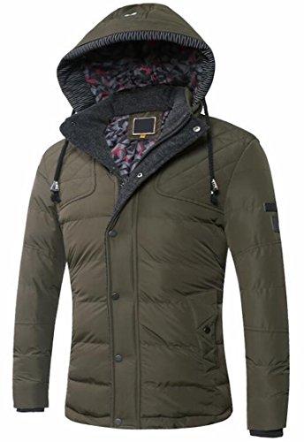 Ci S Uomini Outwear Cappuccio Caldo Inverno Armygreen Giù Con Eku Con Coulisse Giacche qqUPAZ