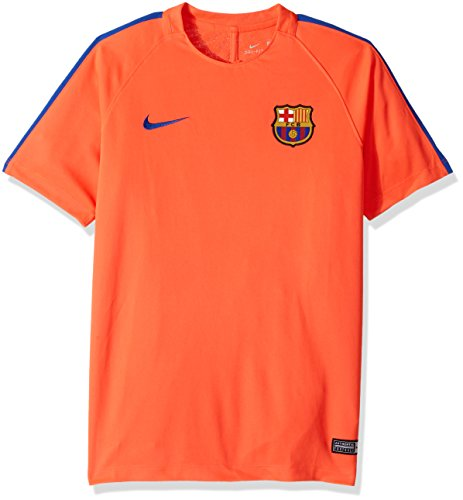 Nike Kid's Barcelona NK Dry Top Squad Soccer Training Jersey (Youth X-Large) Bright Crimson