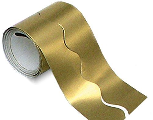 Metallic Gold Scalloped Smooth Bordette Border Roll | Classroom Display Border