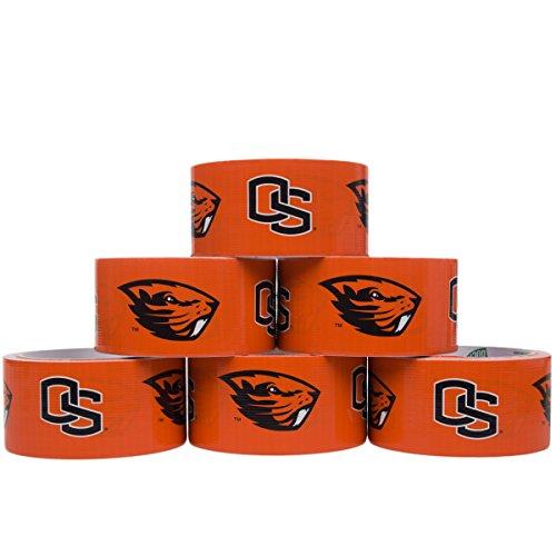 Duck Brand 6 Rolls 10 Yard College Logo Duct Tape School Team Decorative Collegiate NCAA Sports Fan Bulk Lot Oregon State