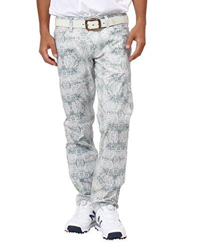 [カールカナイ ゴルフ] Karl Kani GOLF パンツ 総柄 ストレッチ ロングパンツ 182KG1806 ホワイト Sサイズ