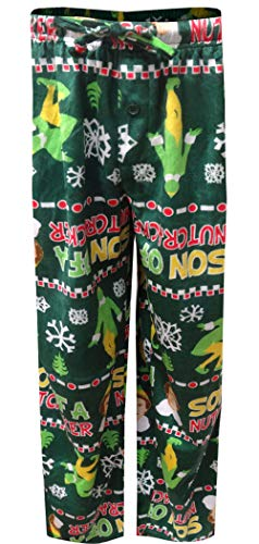 Warner Brothers Men's Buddy The Elf Lounge Pants, Holiday Green, M