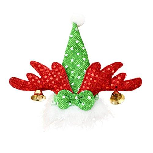 (iLH Christmas Tableware Bags,ZYooh Santa Claus,Christmas Tree, Snowman Style Silverware Holder Pockets (RED))