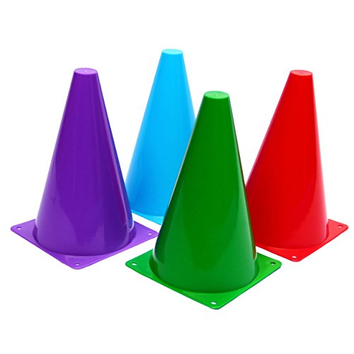 Assorted Plastic Toy On Yellow Surface: Dazzling Toys Flexible Traffic Cones Pack Of 12 7in