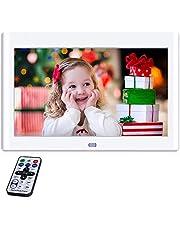 NeKan 10 Pulgadas Marcos Digitales, 1024 × 600 de Alta resolución / 1080P HD portaretratos Digitales con Control Remoto
