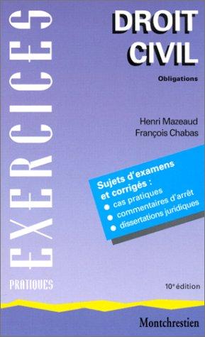 Download Droit civil, tome 2 ; Obligations, 10e édition pdf