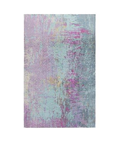 aqua colored rug - 4