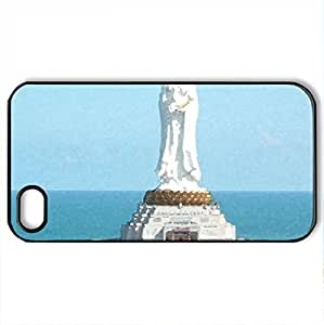 religious pics avalokitesvara - Case Cover for iPhone 4 and 4s (Religious Series, Watercolor style, Black)