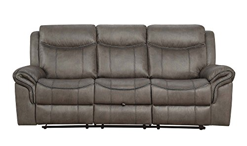 Amazon.com: Coaster Home Furnishings Motion Sofa with Pillow ...