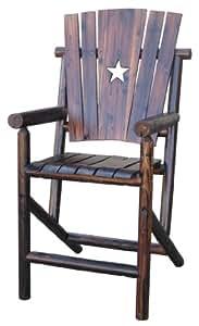 Char-Log Bar Arm Chair with Star