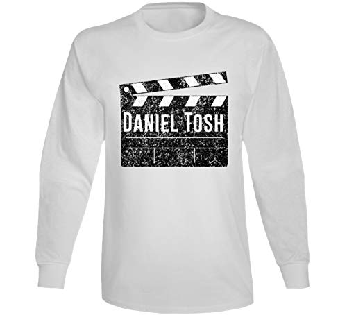 Daniel Tosh Director Movie Parody Comedian Comedy Worn Look Cool Fan Long Sleeve T Shirt S White