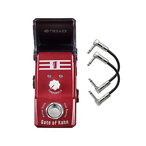 Joyo JF-324 Gate of Kahn (Noise Gate) Ironman Mini Guitar Effects Pedal with Patch Cables