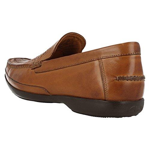 Clarks Shoes, Smart feinen Geflecht aus Leder In Hellbraun