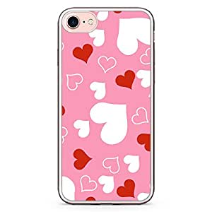 Loud Universe iPhone 8 Plus Transparent Edge Case - Valentines Gift Love Heart Pattern