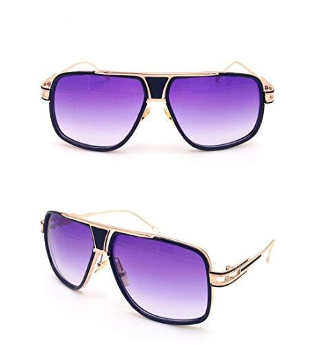 Vintage Espejo Montura A Mujer de Unisex para Fliegend UV400 Gafas Metal con Hombre Sol Sol Lente Súper de de Gafas Ligero Retro Gafas Polarizadas Púrpura FwqqfA8R