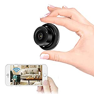 Flashandfocus.com 415P3lyMUkL._SS300_ Hidden Spy Camera WiFi Mini Camera HD 1080P Small Wireless Camera with IP Camera with Infrared Night Vision Function…