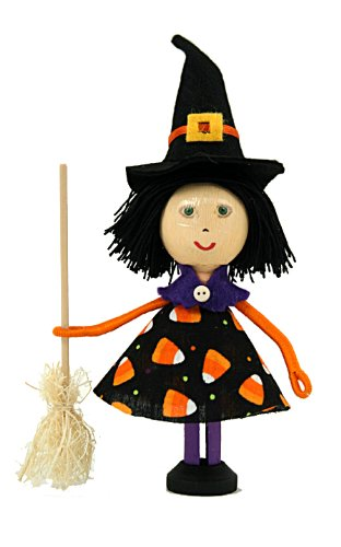 Halloween Crafts Witch Clothespin Doll Craft Kit